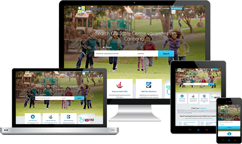Child Care Canberra displayed beautifully on multiple devices